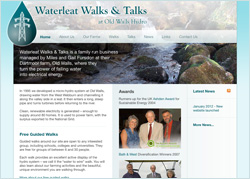 Waterleat Walks & Talks website